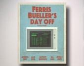 Ferris Bueller's Day Off Minimalist Movie Poster / Wall Art / Movie Film Poster