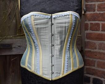 """Spring silk overbust corset (32"""" waist)"""