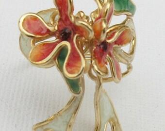 Flower jewellery. Ring flower, Gift ideas for mom. Best gifts for woman. Flower ring.