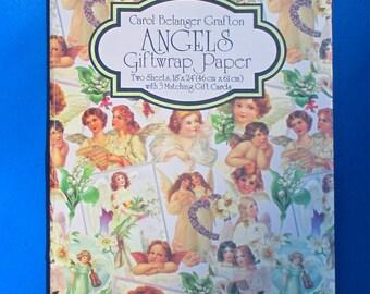 Angels Giftwrap Paper by Carol Belanger Grafton