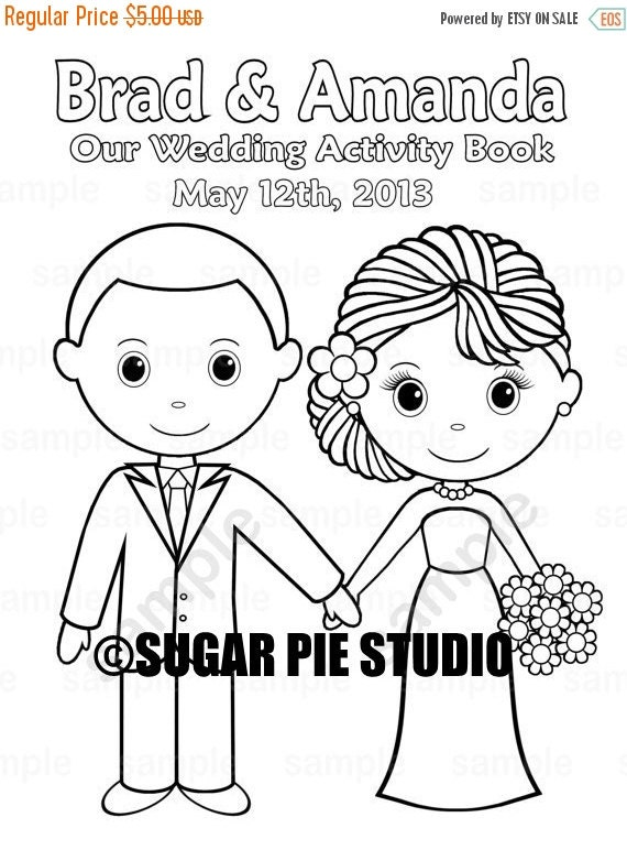 Rustic Wedding Book Coloring Pages