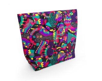 Allover Print 80s Memphis Era Aesthetic Shopping Bag