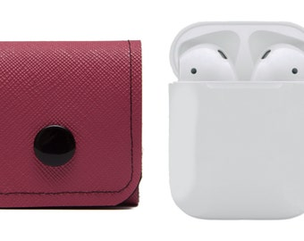 AirPods Case, Earphones Cover. Air Pods Carrying Solution. EarBuds. Bubble Red. WeirdOldSnail