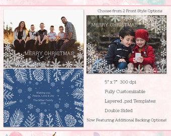 Christmas Card, 5x7 Card (double sided) - Instant Download