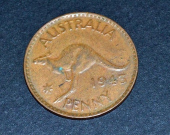 Australia one penny 1943 Fine condition