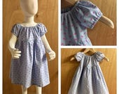 Tiny Pink Whale Chambray  Spring/Summer Peasant Dress, size 3t