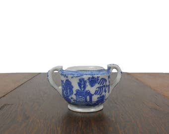 Blue Willow Sugar Bowl 1950s Vintage Toy China Childrens Extra - Great As a Replacement or Addition to a Collection -  Made in Japan