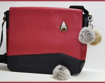 Star Trek Tribble Key Chain Keychain, Tribbles Bag Backpack Charm,  Trouble with Tribbles, Captain Kirk, Spock, Angora Pom Pom Key Ring