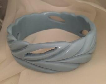 Blue Vintage bangle Bakelite era