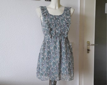 SALE 90s ruffle floral babydoll dress