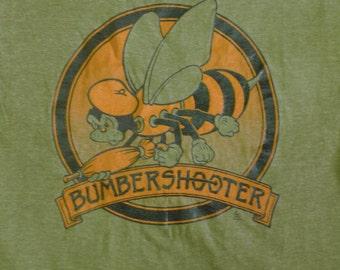 Vintage 80s 1983 Bumbershooter Bumbershoot Seattle Center Washington Green T-shirt, Music and Arts Festival