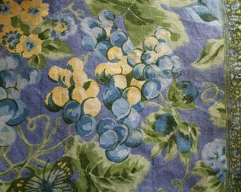 two cotton placemats grape and floral print