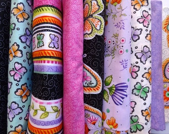 """BLACK FRIDAY Sale: Fabric, """"Butterfly Kisses"""" from VIP/ Cranston by Christine Graf"""