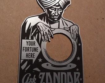 Custom Vintage Style SWAMI Zandar FORTUNE TELLER Door Peep Hole Plate Magic Houdini Seance