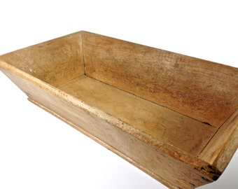 19thC New England Wooden Bread Trough, Antique Wooden Dough Bowl Box, New England Antiques, American Antiques, Primitive Antiques, folk art