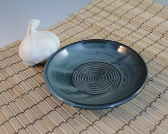 Ceramic Garlic Grater - Blue