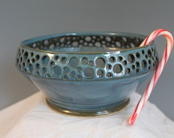 Blue Fruit Bowl - Coffee Table bowl