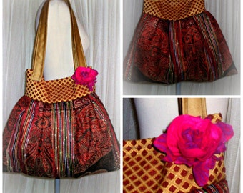 handmade big bag,flower power,gipsy,boho style