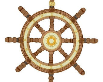 Boat Wheel Embroidery Design - Instant Download