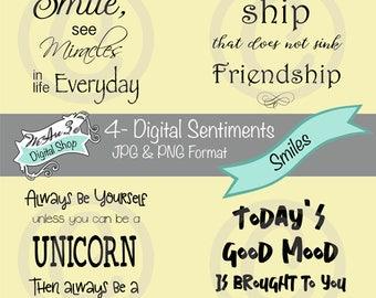 We Are 3 Digital Shop - Smiles Sentiments,  Transparent Digital Image