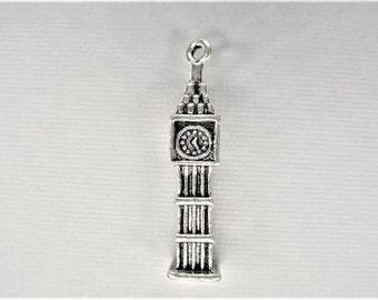 36mm*7mm, 5CT, Clock, Big Ben Clock, London, charm, (Y48)