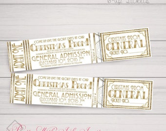 TICKETS for Events, Weddings, Parties, Escort Cards, Raffle, Perforated, Tear Away,Charity,Prom. Customize for Free. Printed or Downloadable