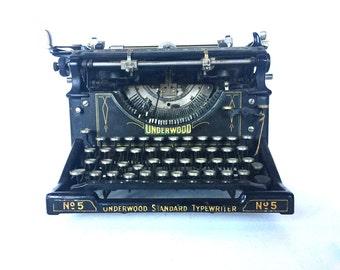 Antique Underwood typewriter number 5