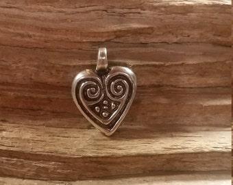 01.199.SV  925 Silver Heart Pendant