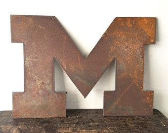 Metal Plasma Cut Letter M