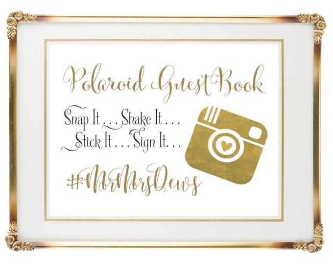 Personalized Wedding Sign | Polaroid Wedding Guest Book | 8x10 | Wedding Guest Book Canvas | DIY PRINTABLE | Quick Turnaround
