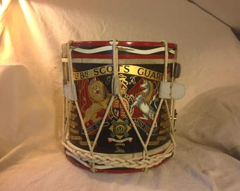 Side Drum,1st Battalion Scots Guards, Post World War One, Regimental Side Drum,Extremely Rare, Price Reduced to Move!