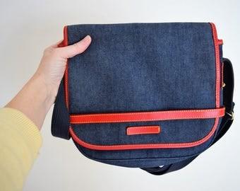 Denim satchel | Etsy