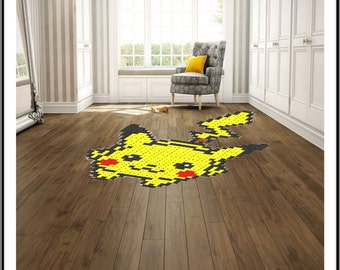 PATTERN - Inspired Pikachu Rug/Bed Decoration
