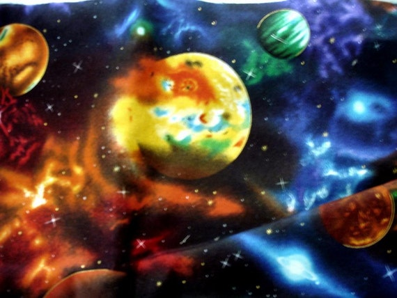 Galaxy outer space fabric by the yard priced by 1 2 for Outer space fabric by the yard