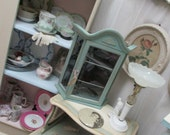 Vintage Display Cabinet Annie Sloan Chalk Paint Provence Wall or Tabletop