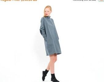 Denim dress, Jeans dress, Jacket Dress, Trench coat, Blazer dress, everyday dress, Dress with side pockets, Long Sleeves dress, Black dress