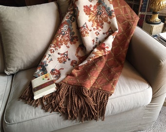 Orange Moroccan Throw Blanket, Turquoise Teal Orange, Luxurious Throws, African Quilts, Tribal Blankets, Handmade Blankets, Upscale Bedding