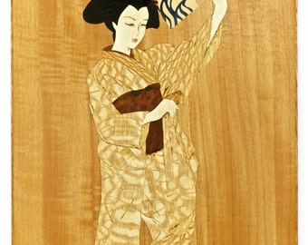 Graceful Motion - Marquetry Wall Hanging