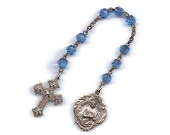 Saint Lucy 9 bead chaplet, patron of vision and blindness, and Christian virgins
