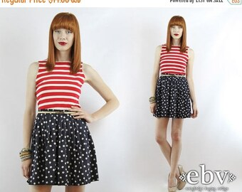 Nautical Top Nautical Tank Summer Top Striped Tank Striped Top American Tank Vintage 90s Red and White Striped Tank Top XS S