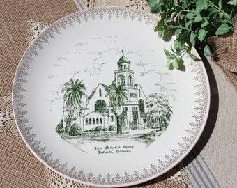 Church Plate, First Methodist Church Redlands California