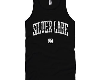 Silver Lake Los Angeles Tank Top - Unisex XS S M L XL 2x Men and Women - Gift for Men, Her, Silver Lake Tank Top, LA Indie Rock Music