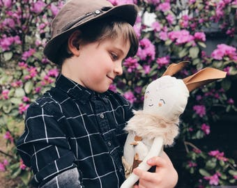 Lost Boy Doll ASH And Pocket Mouse Handmade Soft Toy