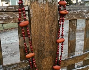 Vintage Seed Pod Necklace/Belt