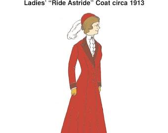 """RH1013 — 1910s """"Ride Astride"""" Coat"""