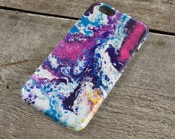 Spirit Abstract iPhone Case - Purple pink blue yellow and white Fluid Art iPhone Case for iP4, iP5/S/SE, iP5C, iP6/S, iP6+/S, iPod Touch 5