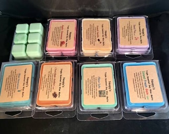 Free Sh! 2 Clam Shells TRIPLE Scented SINUS RELIEF Noopy's Soy Wax Melts/Tarts