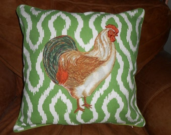 Beautiful Rooster Throw Pillow - Home Decor