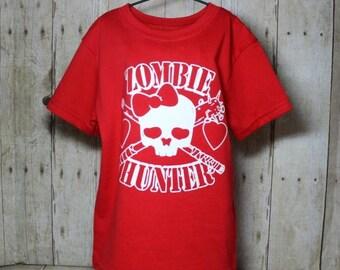 Zombie Hunter Girls Shirt, Zombie t shirt, Zombie Hunter Tee, Girls T shirt,