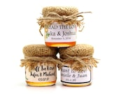 50 Honey Baby Shower or Wedding Favors Favour pure honey, personalized label, burlap, raffia ribbon twine